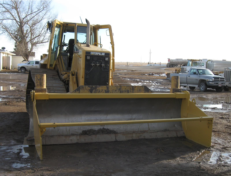 used for building oil feild pads in north dakota