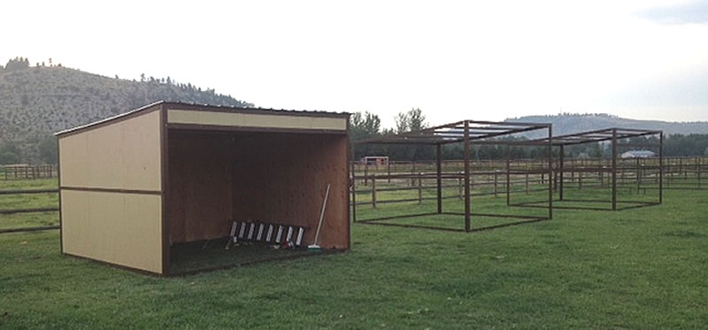 Horse shed kit diy portable loafing shelter solutioingenieria Choice Image