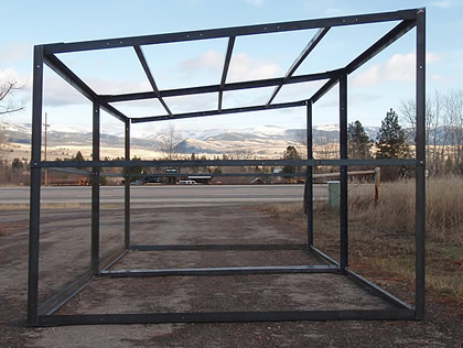 Horse shed kit diy portable loafing shelter two horse shed frames single shed kit solutioingenieria Images